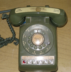 Western Electric Model 564 Desk phone, Olive