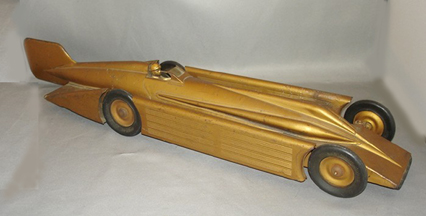 Model of the Golden Arrow land Speed Car, left side