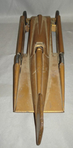 Model of the Golden Arrow land Speed Car, top view