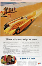 Sparton Radio Ad featuring the Golden Arrow