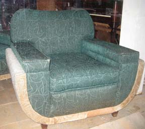 The Green Sculpted Pile Deco Chair
