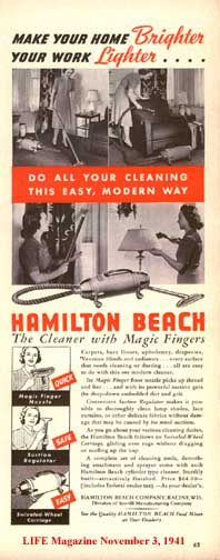 11-3-41 Ad for the Hamilton-Beach Vacuum