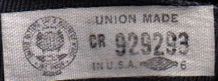 Hatters, Cap and Milliner Workers union label