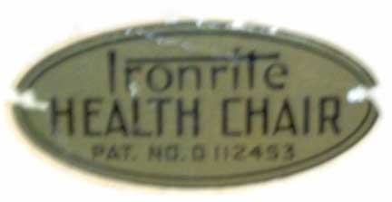 Ironrite Health Chair Decal