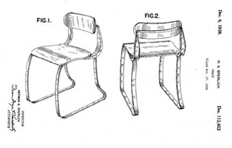 Ironrite Health Chair Patent D-112,453