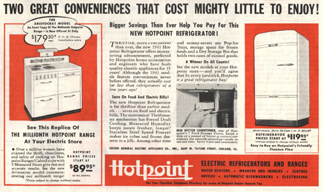 Advertisement for a 1940 Hotpoint Refrigerator