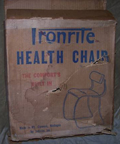 Ironrite Health Chair, New-In-Box original box