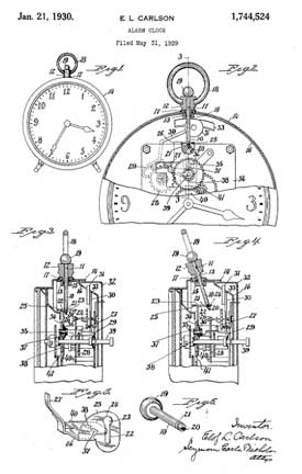Carlson Patent Patent 1,744,524