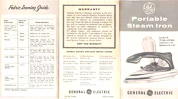GE (F-29) Portable Steam Iron Instructions