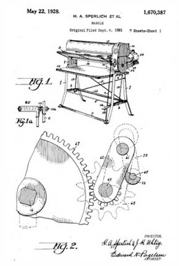 Mr. Sperlich's Patent 1,670,387
