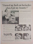 Ironrite Ad from  1952