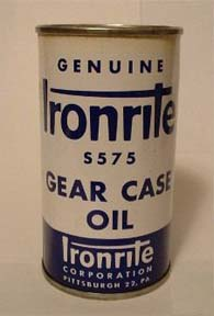 Ironrite Oil Can Front