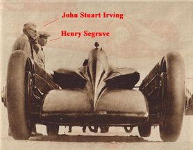 John Stuart Irving and the Golden Arrow Land Speed Car