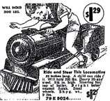Sears Ad for a Pedal car in the form of a Locomotive