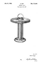 Karl Kipp Smoking Stand Design patent D110464