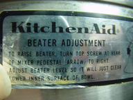 Kitchen Aid K3-B or K4-C-- with grinder attachment