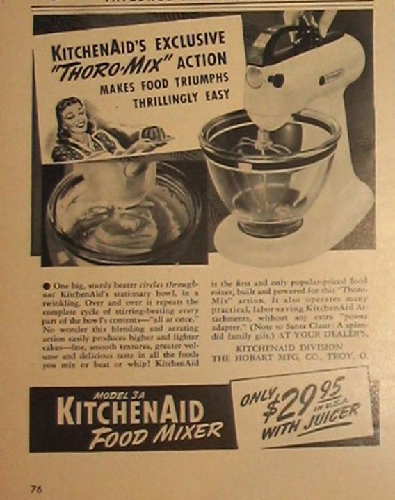 Retro Kitchen Mixers - Kitchen ad