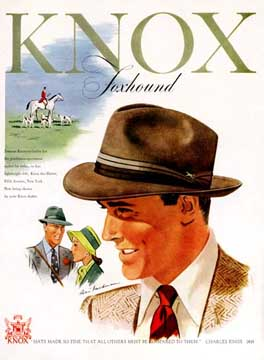 Ad for Knox Hats LIFE 1948