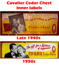 Cavalier Cedar Chest Inner Label from the late 1940s and 1950s