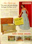 Lane Cedar Chest Adverisement from 1951 featuring Yolanda Betzbeze