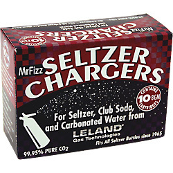 Package of Leland Mr. Fizz CO2 Cartridges
