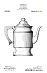 Landers Frary and Clark Coffee Patents - Electric Percolator Design Patent  D-43,520