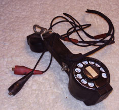 Telephone Lineman's Handset showing Dial