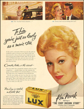 Kim Novak ad for Lux Detergent
