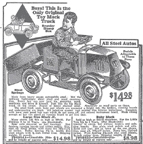 1936 Sears Catalogue ad for the Mack Dump Truck