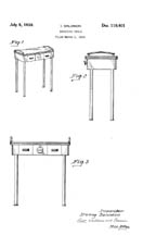 Modecraft Manicure Table design patent D110401