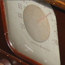 Closeup of the Dial, General Electric TV