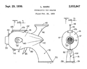 Louis Marx Company  -- Ray Gun Design Patent No. 2,055,847