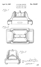 Kellog Masterphone Model 900 Design Patent D- 104,087