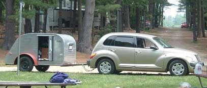 PT Cruiser towing a Model 10