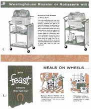 Cart for the Rotisserie Attachment -- Westinghouse Roaster