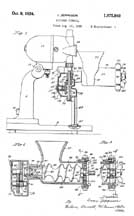 Sunbeam Mixmaster Meat Grinder Patent No.1,975,949