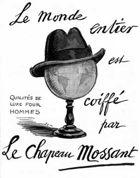 ad for Mossant Hats, 1925