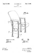 Movie Chair Design Patent D111485