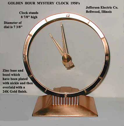 Jefferson Golden Hour Clock - Front