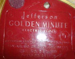 Jefferson Golden Minute Clock - Side