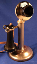 Western Electric Type 20AL Nickel Candlestick Phone