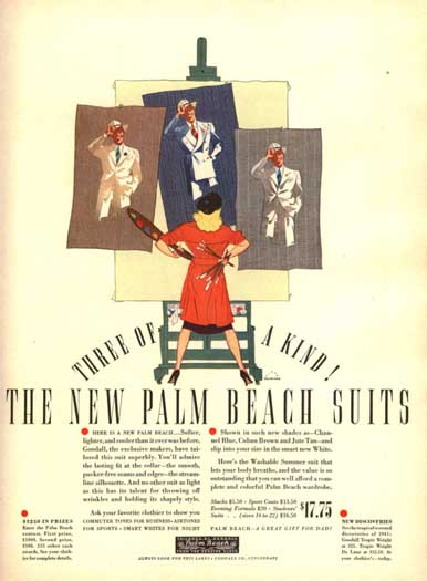 Ad for Palm Beach Cloth