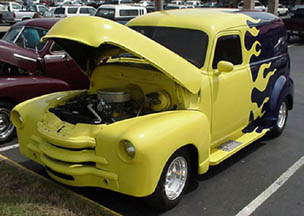 Customized 48 Chevy panel Truck