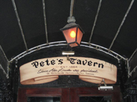 Marquee for Pete's Tavern in NYC