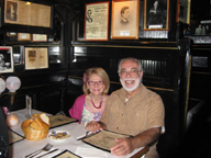 Karyn and Frank in the O. henry Booth Petes Tavern NYC