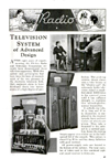 Article about Philco TV Popular Mechanics November, 1937