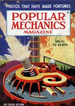 Cover of Popular mechanics, August 1938