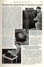 Article in Popular Mechanics 8-1938 about the Philco Mystery Control Wireless Remote