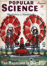 cover of the August 1939 Popular Science