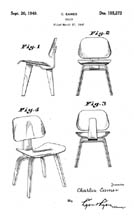 Eames Molded Plywood Potato Chip Chair Patent No 2,667,210